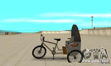 Manual Rickshaw v2 Skin1 for GTA San Andreas left view