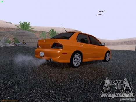 Mitsubishi Lancer Evolution VIII for GTA San Andreas back view