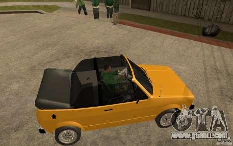 Volkswagen Golf MK1 Cabrio for GTA San Andreas right view