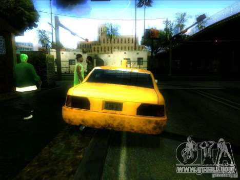 Sunrise Taxi for GTA San Andreas back left view
