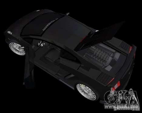 Lamborghini Gallardo Hamann Tuning for GTA Vice City back left view