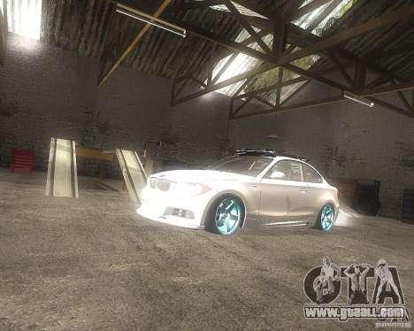 BMW 135i Hella Drift for GTA San Andreas right view
