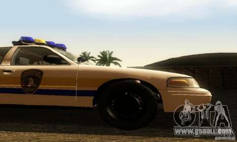 Ford Crown Victoria Puerto Rico Police for GTA San Andreas right view