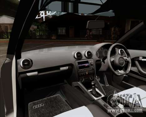 Audi S3 V.I.P for GTA San Andreas inner view