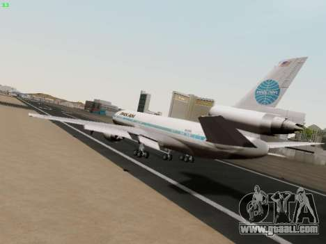 McDonell Douglas DC-10-30 PanAmerican Airways for GTA San Andreas right view