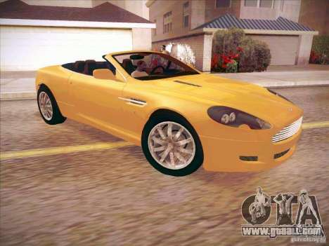 Aston Martin DB9 Volante v.1.0 for GTA San Andreas back left view