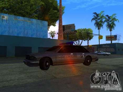 Lumpkin Country Sheriffs Office for GTA San Andreas left view