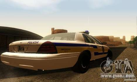 Ford Crown Victoria Puerto Rico Police for GTA San Andreas left view