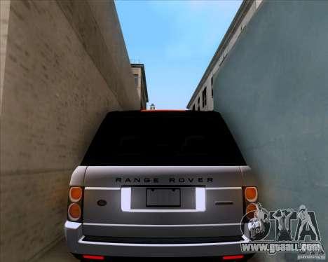 Range Rover Hamann Edition for GTA San Andreas upper view