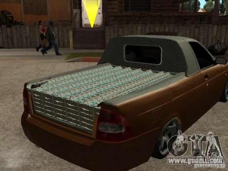 LADA 2170 Pickup for GTA San Andreas back view