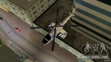 Mi-24 HindB for GTA Vice City back left view