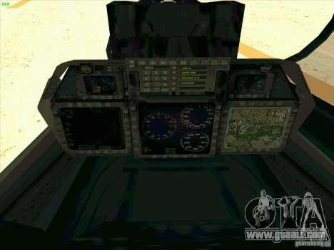 F-14 Tomcat Razgriz for GTA San Andreas upper view