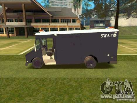 Swat Van from L.A. Police for GTA San Andreas back left view