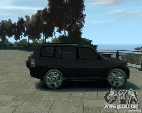Mitsubishi Pajero for GTA 4 back view