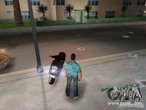 PIAGGIO NRG MC3 for GTA Vice City back view
