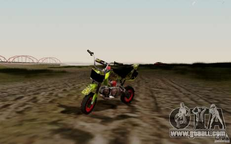 Kawasaki 50cc Pocket Factory Bike for GTA San Andreas