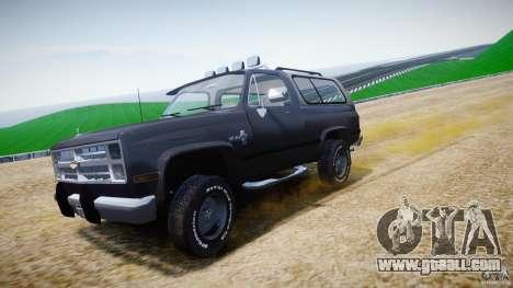 Chevrolet Blazer K5 Stock for GTA 4 upper view