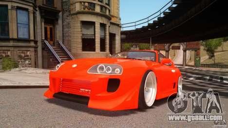 Toyota Supra Tuning for GTA 4
