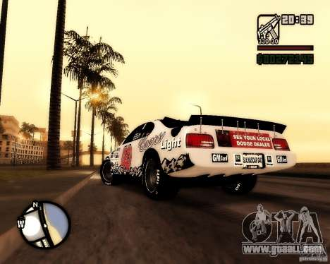 Dodge Nascar Beers Light 40 for GTA San Andreas left view