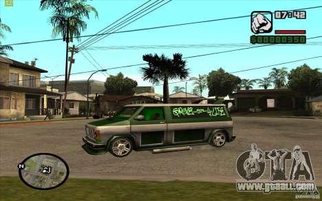 Grove Street Gang Burrito for GTA San Andreas back left view