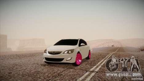 Opel Astra 2010 for GTA San Andreas