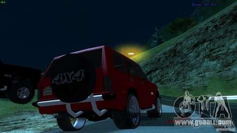 FBI Huntley 4x4 for GTA San Andreas left view