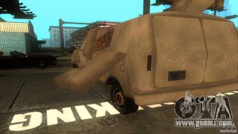 Dumb and Dumber Van for GTA San Andreas back view