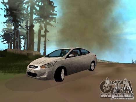 Hyundai Solaris for GTA San Andreas