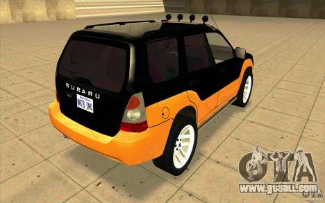 Subaru Forester Cross Sport 2005 for GTA San Andreas back left view