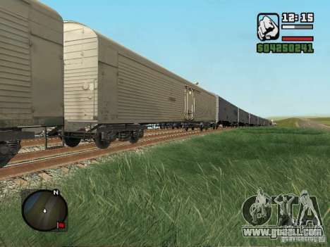 Refrigerated wagon Dessau for GTA San Andreas left view