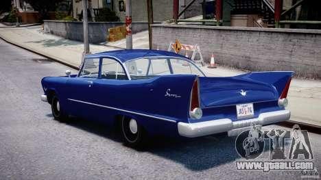 Plymouth Savoy Club Sedan 1957 for GTA 4 back left view