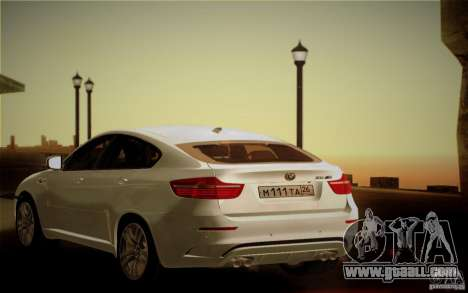 BMW X6M E71 for GTA San Andreas upper view