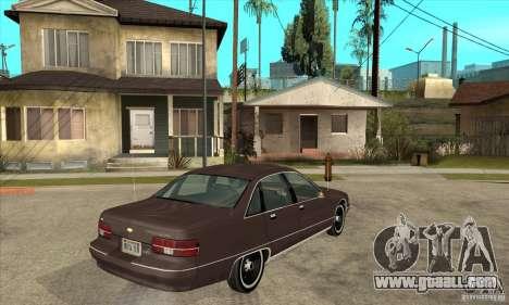 Chevrolet Caprice 1991 for GTA San Andreas inner view