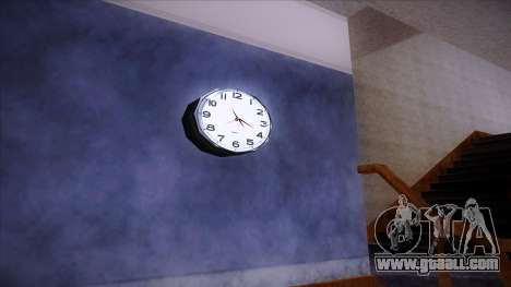 Working wall clock for GTA San Andreas
