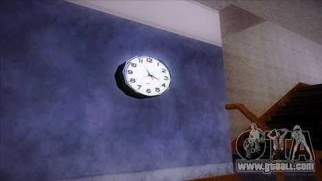 Working wall clock for GTA San Andreas