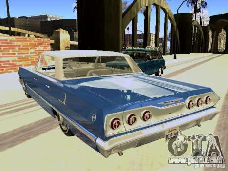 Chevrolet Impala 4 Door Hardtop 1963 for GTA San Andreas right view
