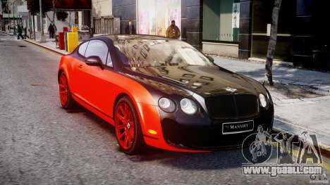 Bentley Continental SS 2010 Le Mansory [EPM] for GTA 4 back view