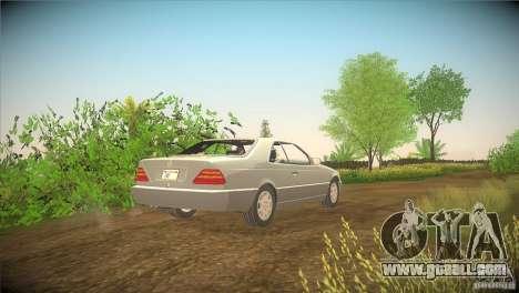 Mercedes Benz 600 SEC for GTA San Andreas back left view