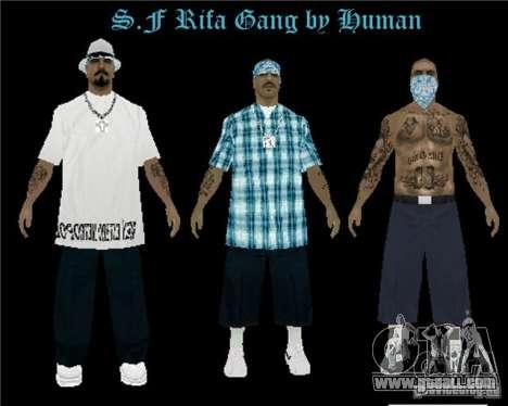 New skins The Rifa gang for GTA San Andreas