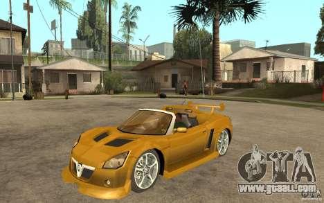 Opel Speedster for GTA San Andreas