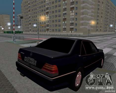 Mercedes-Benz W124 for GTA San Andreas back left view