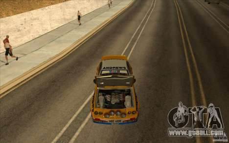 Opel Manta 400 for GTA San Andreas inner view
