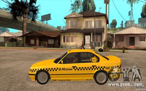 BMW 525tds E34 Taxi for GTA San Andreas left view