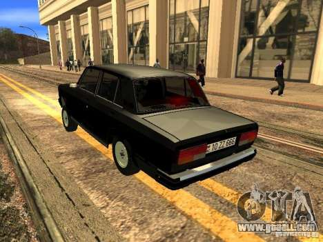 VAZ 2107 ZZ Style for GTA San Andreas right view