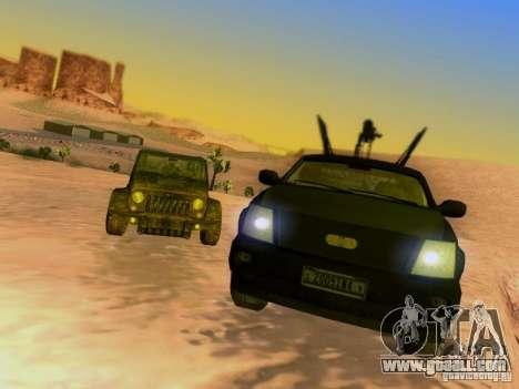 Suv Call Of Duty Modern Warfare 3 for GTA San Andreas wheels