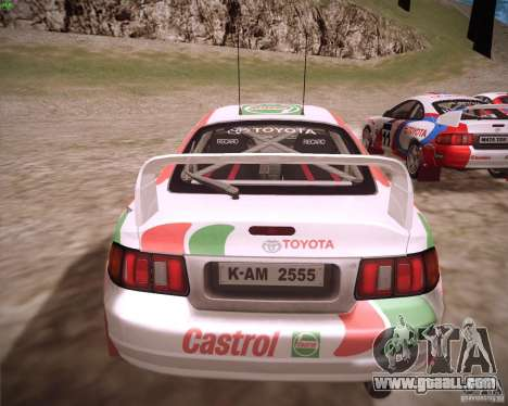 Toyota Celica ST-205 GT-Four Rally for GTA San Andreas left view