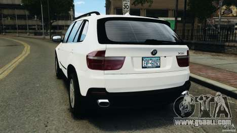 BMW X5 xDrive48i Security Plus for GTA 4 back left view