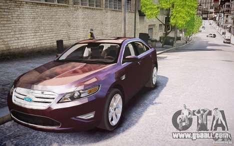 Ford Taurus SHO 2010 for GTA 4