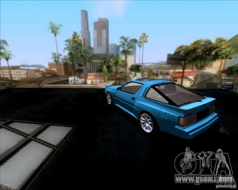 Mitsubishi Starion for GTA San Andreas back left view