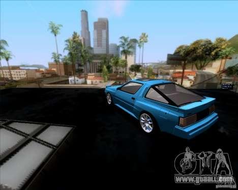 Mitsubishi Starion for GTA San Andreas back left view